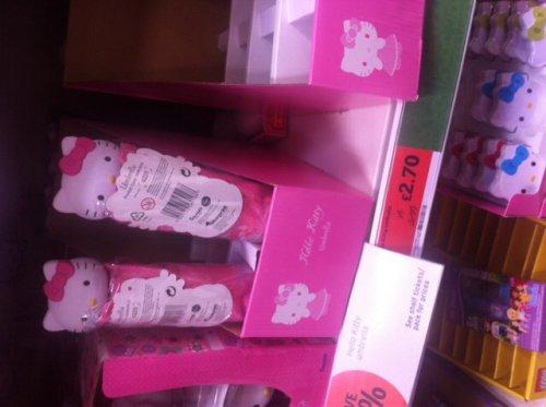 Hello kitty umbrella at sainsburys in store  £2.70