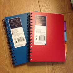 A5 project notebook 50p in Tesco