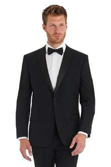 Dinner jackets all in one deal with suit + shirt + bow tie £149.00 (126.65 using code) @ Moss Bros