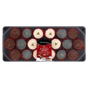 18 xmas cupcakes for £5 at asda