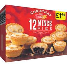 12 mince pies £1.50 Iceland