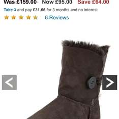 Ugg boots Bailey button £95 @ Very