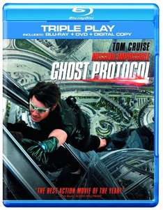 Mission Impossible: Ghost Protocol - Triple Play (Blu-ray + DVD + Digital Copy) £1.90 Sold by Shop4World and Fulfilled by Amazon