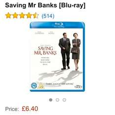 SAVING MR BANKS BLU RAY £6.40 @ AMAZON  (free delivery £10 spend/prime)
