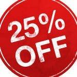 25% off until 22/12/14 @ matalan for reward card holders.