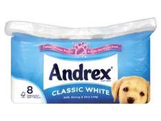 Andrex Classic White Toilet Tissue just £2.99 for 8 rolls at Lidl