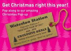 Lastminute.com Free Give Aways on the Hour Waterloo Station 18th Dec 2014