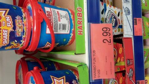 Haribo fun tubs for £2.99 in B&M