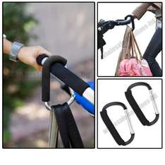 X2 Large buggy clips to hold bags on prams with limited storage - £3.95 delivered @ wholesale-solutions-ltd eBay