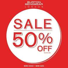 Up to 50% off everything @ Burton