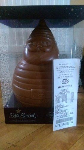 giant chocolate santa at asda scanning @ £3