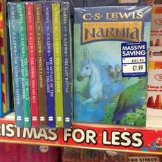 The Chronicles of Narnia CS Lewis. All 7 books for £7.99 at The Works instore