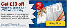 £10 off £30 spend at Jewson Tools online