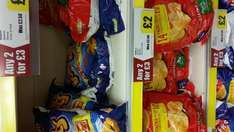 Walkers Classic Quaver or Wotsits 2 for £3 @ Iceland