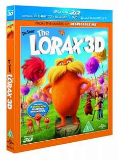 Dr. Seuss' The Lorax 3D (Blu-ray 3D + Blu-ray + DVD + Digital Copy + Ultraviolet) £5.49 @ WOWHD