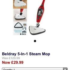 Beldray 5 in 1 steam mop only £29.99 delivered @ 24Studio Homeshopping