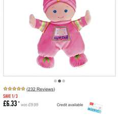 Fisher price my 1st doll £6.33 at Argos