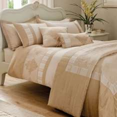 B&Q Chartwell Double Salmon Pink & White Striped Double Bed Cover Set £8.00