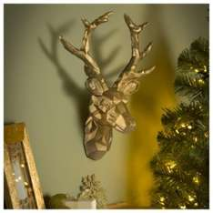 Tesco Large Gold Geometric Stag Head @ tesco direct.   Was £20.00.  Now £10.00