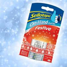 Get wrapping. £1 festive Sellotape @ Whsmiths / o2 Priority Moments