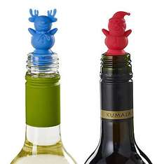 ONLY £2.49 Cute Santa and Snowman Bottle Stoppers Was £6.99 @ Lakeland