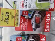Sandisk Cruzer Edge 64GB £16.50 @ Tesco