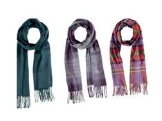 Adults Italian made scarf Size (cm): 28 x 162  £4.99 @ LIDL