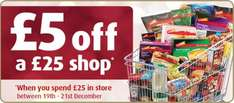 £5 off when you spend £25@ iceland
