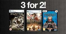 3 for 2 on physical PC Games @ GAME (most £2.00 each - so can get 3 for £4.00)