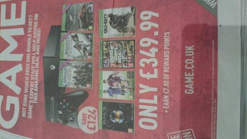 Game - Mega Xbox One Offer instore - £349.99