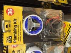 Plumbing kit, ptfe tape, rad key and loads of washers poundland £1
