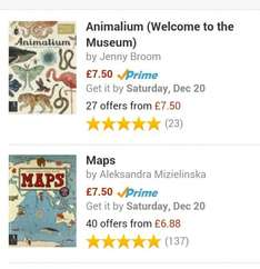 Back in stock Animalium &  Maps books (Welcome to the museum)