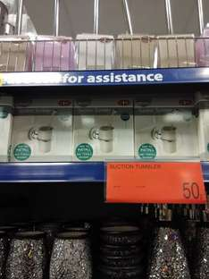 suction tumbler for 50p at b &  m
