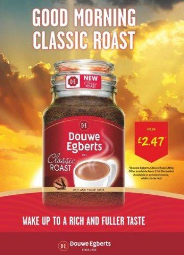Douwe Egberts 200g Classic Roast Better than 1/2 price @ Asda from 31st December £2.47