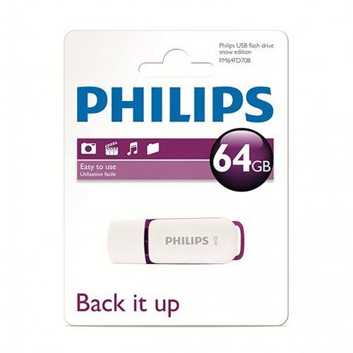 Philips USB 2.0 Flash Drive - Snow Series - 64GB on 7dayshop  £12.59