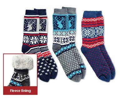 Fleece slipper socks @ Aldi £4.99