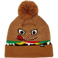 Oddly fascinating Boys brown burger bobble hat @ River Island half price at £4.00, click and collect