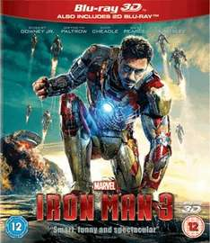 Iron Man 3 (3D Blu-Ray and 2D Blu-Ray) £12.99 at GAME