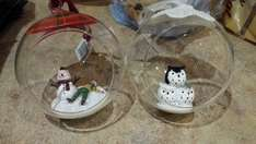 Homebase open front baubles £1