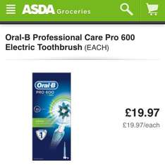 Oral B Pro 600 Toothbrush was £50 now £19.97 @ Asda