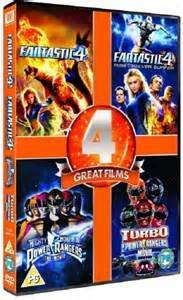 Power Rangers 1-2 / Fantastic Four 1-2 F(DVD Boxset) £4.05 @ tesco direct