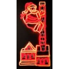 Santa on Chimney Wall Rope Christmas Light - White and Red £29.99 @ argos