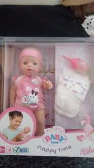 My Baby Born Nappy Time £12.99 Home Bargains rrp £24.99 instore