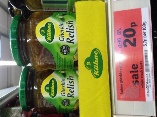 Kuhne Gherkin Relish 350g. Sainsbury's Instore. £0.20