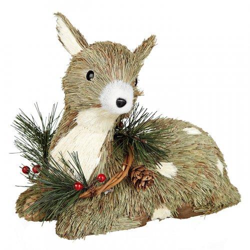 John Lewis Sitting Reindeer Christmas Decoration 50% off now £7.50