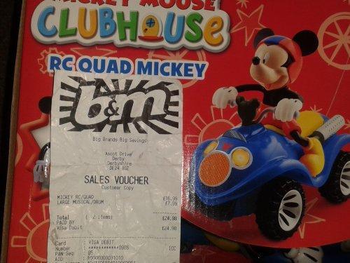 Mickey Mouse RC Quad Mickey £16.99 @ B&M