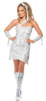 Smiffy's Fever Mummy Bedazzle Dress (Small) £1.96 @ Amazon (Add on Item) HOT CHICK INSIDE! :)