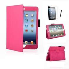 Leather Multi Function Standby Case for Apple iPad Mini / Apple iPad Mini 3 with Built in Magnet for Sleep / Wake Feature + Screen Protector + Stylus Pen £0.01 + £1.98 shipping @ Amazon and sold by MOFRED PRODUCTS