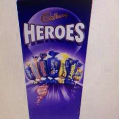 323g of heroes for £1.50 also Roses 321g £1.50 @ Asda