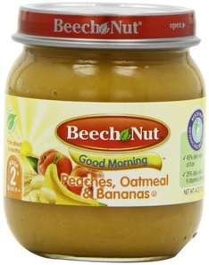 Beech Nut Stage 2 Good Morning Peach Oatmeal Banana 113 g (Pack of 12) £2.44 (subscribe) @ Amazon